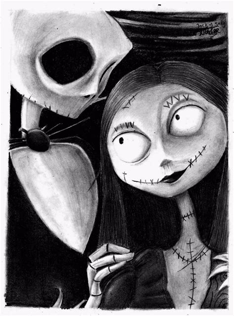 imagenes de jack y sali jack y sally por reniervivas dibujando