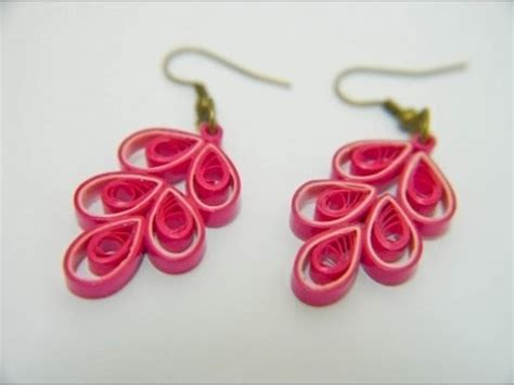 quilling paper earrings tutorial in tamil beautiful quilling paper earring designs making methods