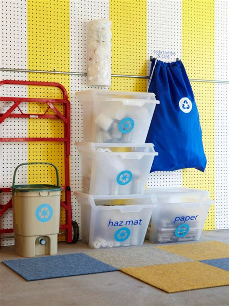 Garage Recycling Storage Ideas Storage Organization Ideas For Recycling Centers