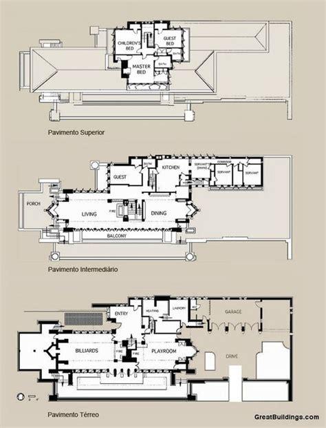 Prairie House Frank Lloyd Wright Plan by Floor Plan Of The Robie House Frank Lloyd Wright Hyde