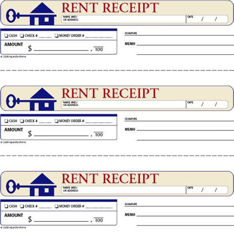 printable rent receipt template search results