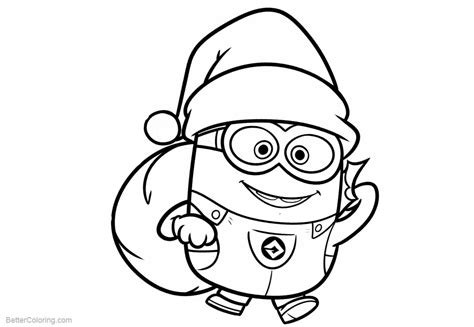 coloring pages of minions minion coloring pages santa minions free