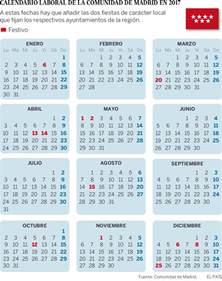 Calendario 2018 Comunidad De Madrid Calendario Laboral La Comunidad De Madrid Tendr 225 Doce