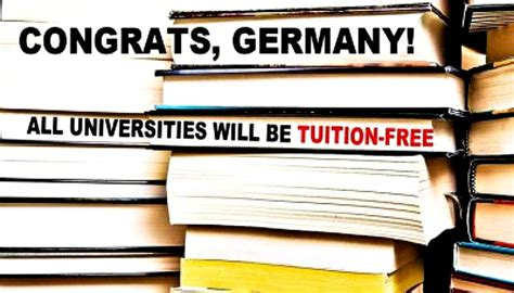 Princeton Mba Tuition Fees by Germany Eliminates Tuition While Americans Drown In 1 2t