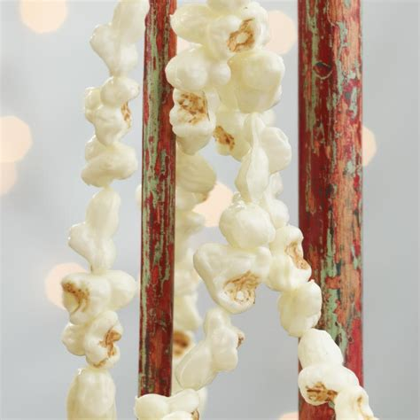 artificial popcorn garland christmas garlands
