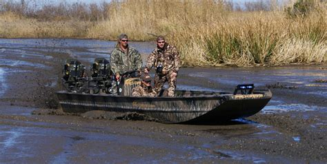 duck hunting boat with surface drive for sale dual remote console steering models pro drive outboards