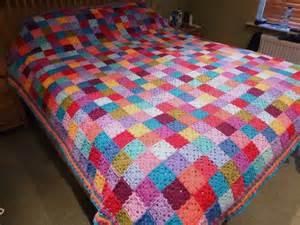 decke patchwork thrifty mummyhen ta dah square patchwork blanket