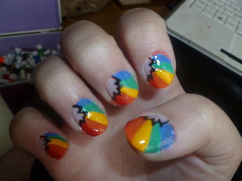 naruto nail art tutorial rainbow nail art by hakuouki naruto on deviantart