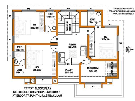 kerala home design first floor plan kerala house plans with estimate for a 2900 sq ft home design
