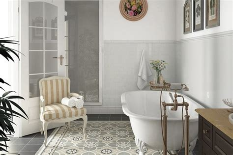 Country Bathroom Tile country gris claro 2 5x16 traditional bathroom