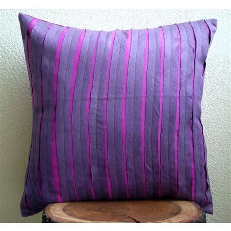 Purple Pillow Sham by Purple Rags Pillow Sham Covers 24x24 Inches Suede Pillow
