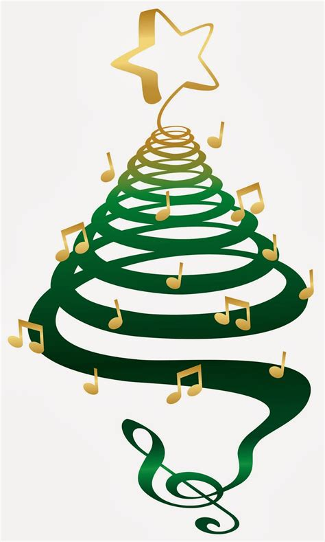 christmas tree music clipart clipartxtras