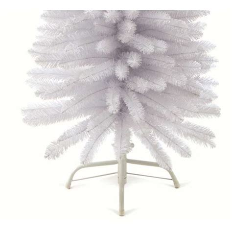 6 6ft white pencil pine artificial christmas tree