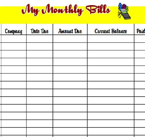 monthly budget planner excel budget spreadsheet personal budget