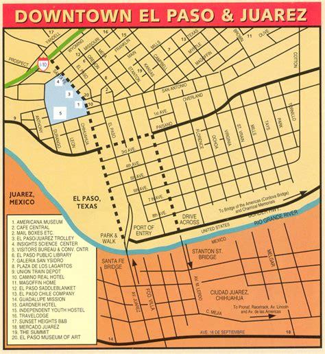 map of el paso and surrounding cities downtown el paso map el paso mappery