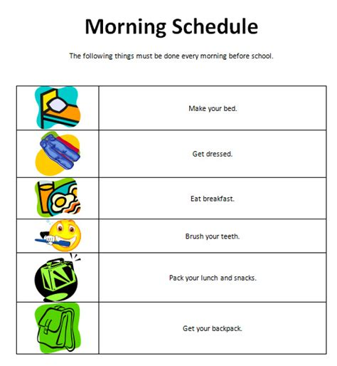 visual schedule template free visual timetable template search results calendar 2015