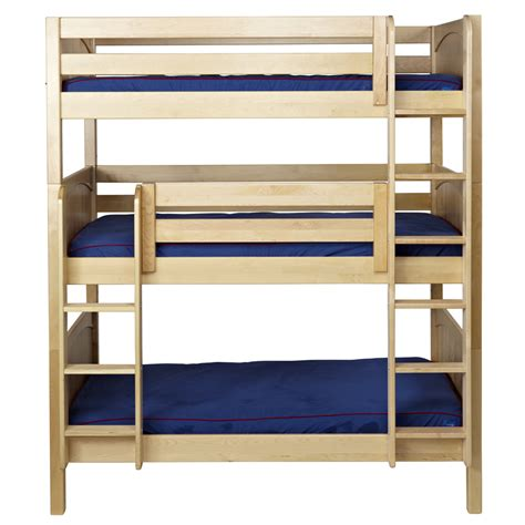 images of bunk beds maxtrix holy triple bunk bed in natural with panel bed