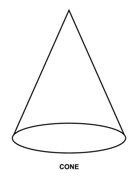 cone coloring page download free cone coloring page for