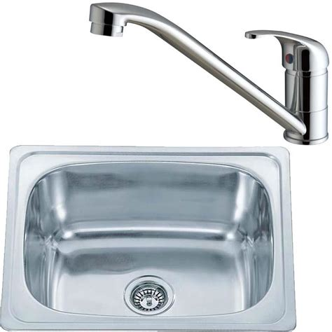Aero Plumbing by 610 X 510 Stainless Inset Kitchen Sink Bowl And Chrome Aero Mixer Tap Kst118 Ebay
