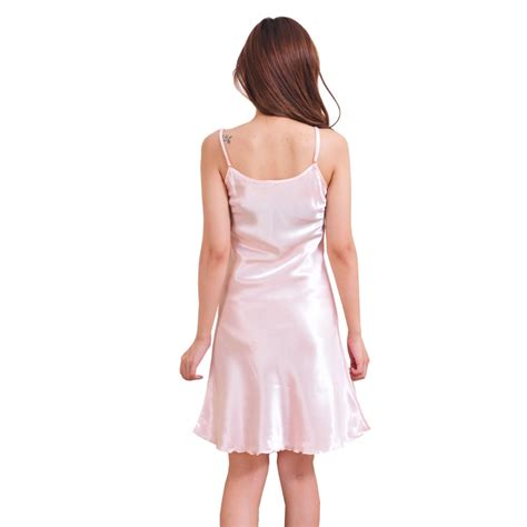 Babydoll Nec270716 0010 nightwear nightgown babydoll satin lace dress robe sleepwear