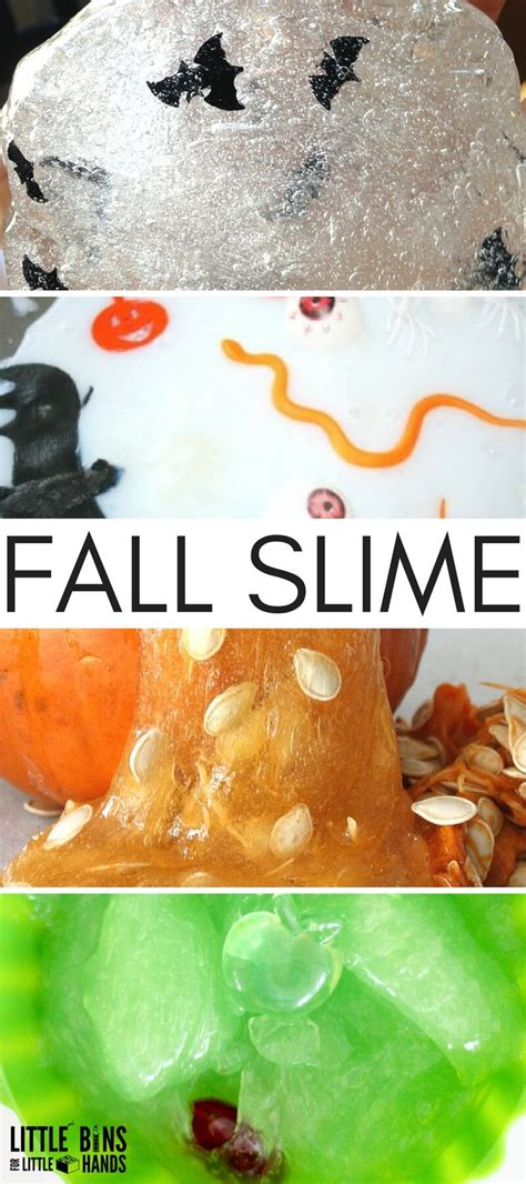 themes for making videos fall slime ideas for making homemade slime with kids