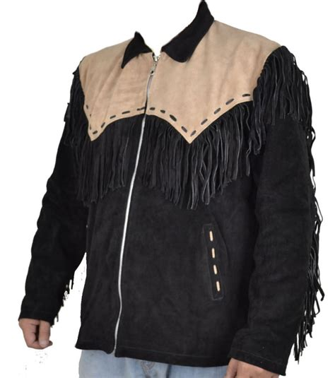 Best Quality Jaket Kombinasi Jaket Cowo Jaket Typisch 44 kfire cowboy western leather jacket black with brown patch ebay