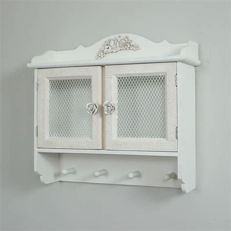 rose detailed wall cabinet french shabby chic vintage