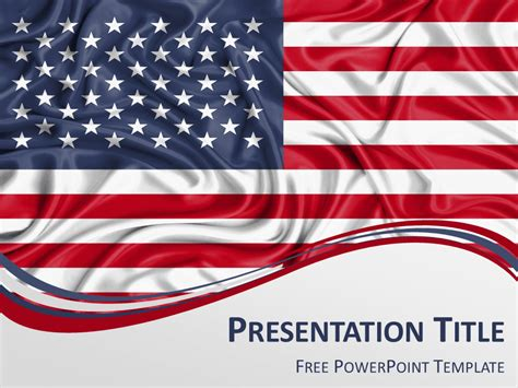 United States Flag Powerpoint Template Presentationgo Patriotic Powerpoint Template