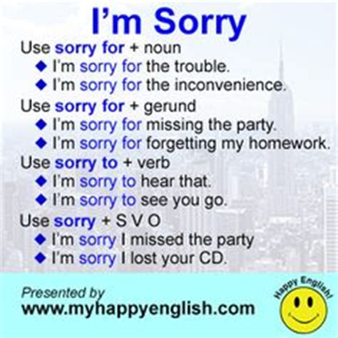 7 Ways To Say Im Sorry by Practical Skills Dialogues For Language Learners