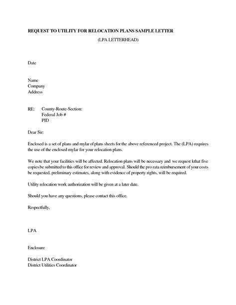 sample resignation letter relocation - Camper and Motorhome
