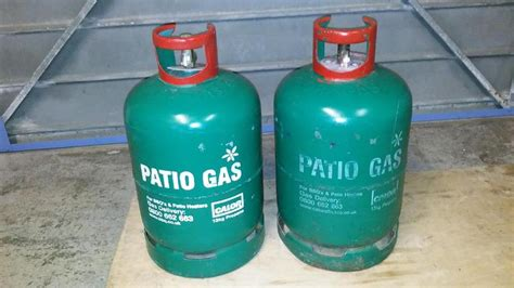 two 13kg calor patio gas bottles in worthing expired