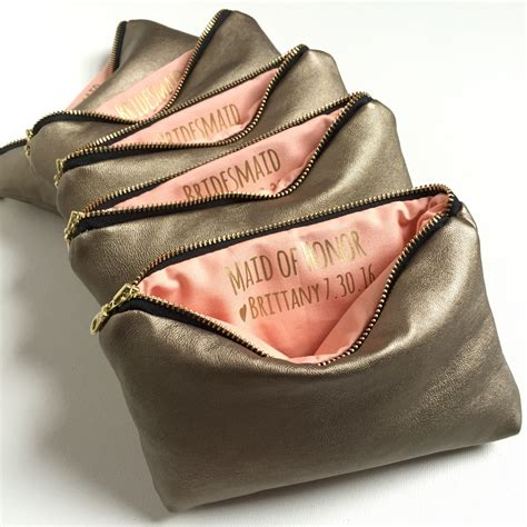 Personalized Handmade Bags - personalized bridesmaid makeup bag personalized bridesmaid
