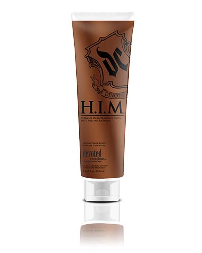 devoted creations h i m ultimate tanning lotion
