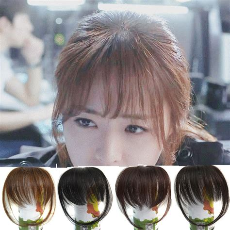 hair piecis and bangs bangs hair piece clip in on human natural fringe hair