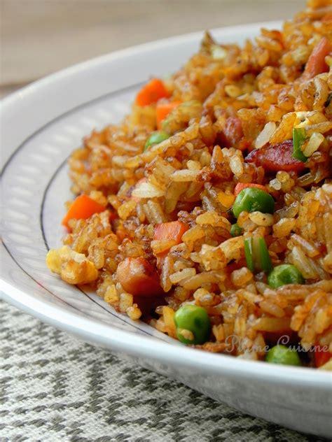 chinois pour la cuisine riz cantonnais aux lardons une plume dans la cuisine