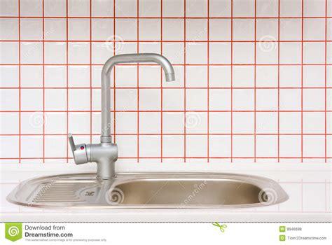 white porcelain kitchen sink small derektime design it sink with small ceramic tile stock photo image of tile