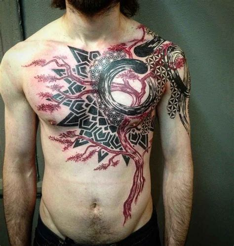 tattoo on left chest 36 best abstract tattoo images on pinterest abstract