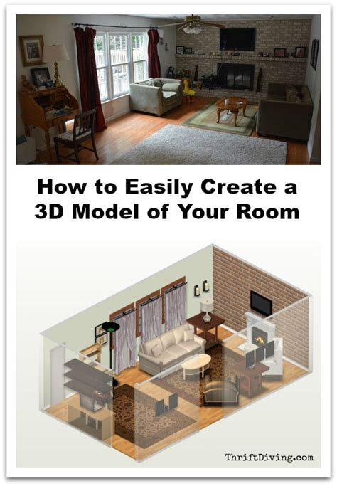 how to make a 3d bedroom model how to create a 3d model of your room makeover thrift