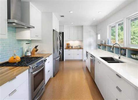 galley kitchen designs with island peenmedia