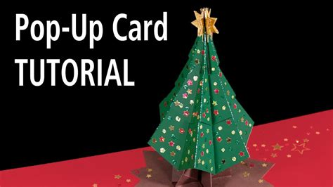 how to makeacheistmas tree stau up tree pop up card tutorial