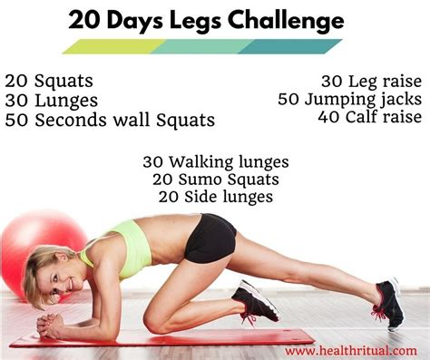 8 Exercises To Tone Your Legs by Here S The 20 Days Challenge For You For Those Who