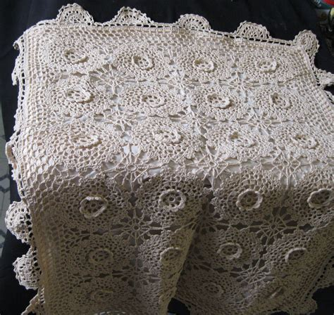 Handmade Crochet Lace - vintage handmade crochet lace king size pillow sham