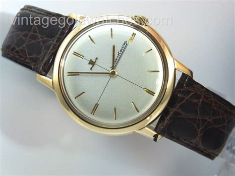 jaeger lecoultre 9k gold 1973 34mm vintage gold watches
