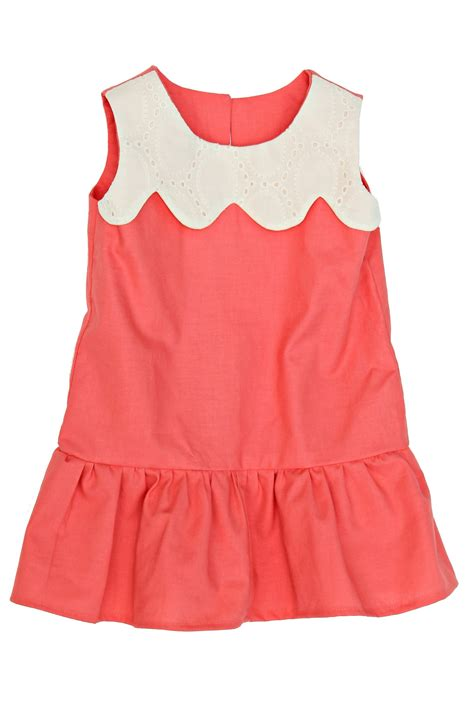 coral baby dress coral drop waist baby dress lottie da baby baby