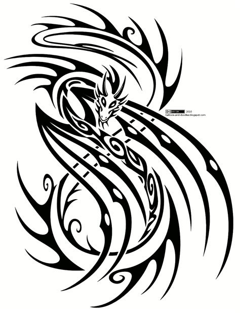 dragon tribal tattoo design tattoos and doodles november 2010