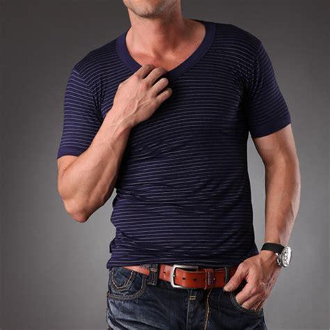 Ecofriendly 6 T Shirt azel high quality blank v neck eco friendly striped t