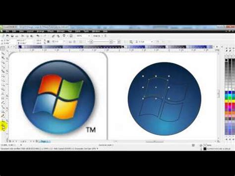 tutorial logo windows corel coreldraw x5 windows 7 logo redraw tutorial youtube
