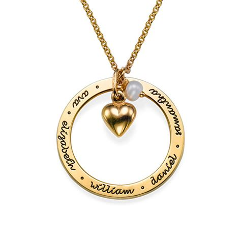 personalized mothers jewelry in gold plating mynamenecklace