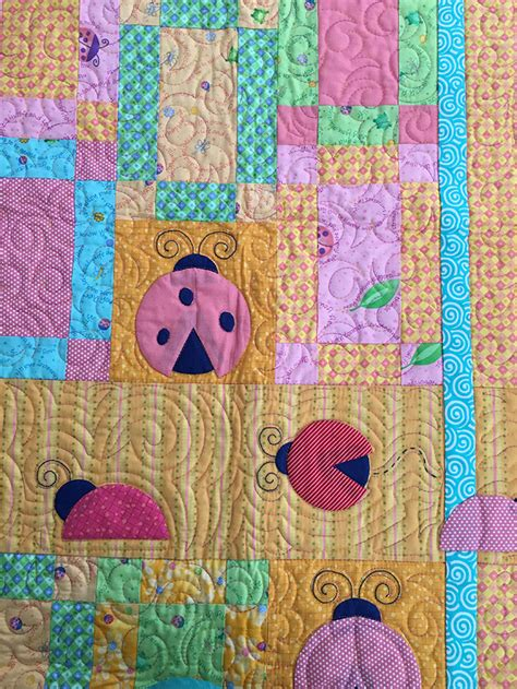 Ladybug Quilt Patterns by Lucky Ladybug Quilt Pattern Quilterchic