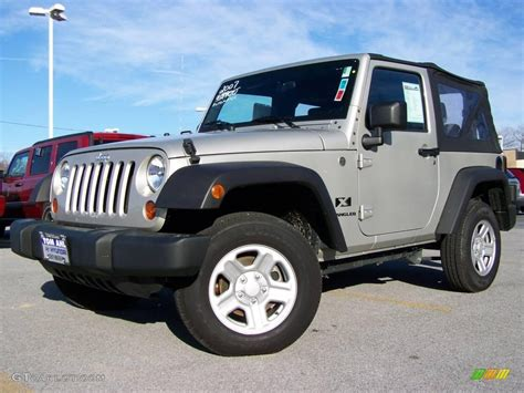 jeep wrangler light grey 2007 light graystone pearl jeep wrangler x 4x4 2974327